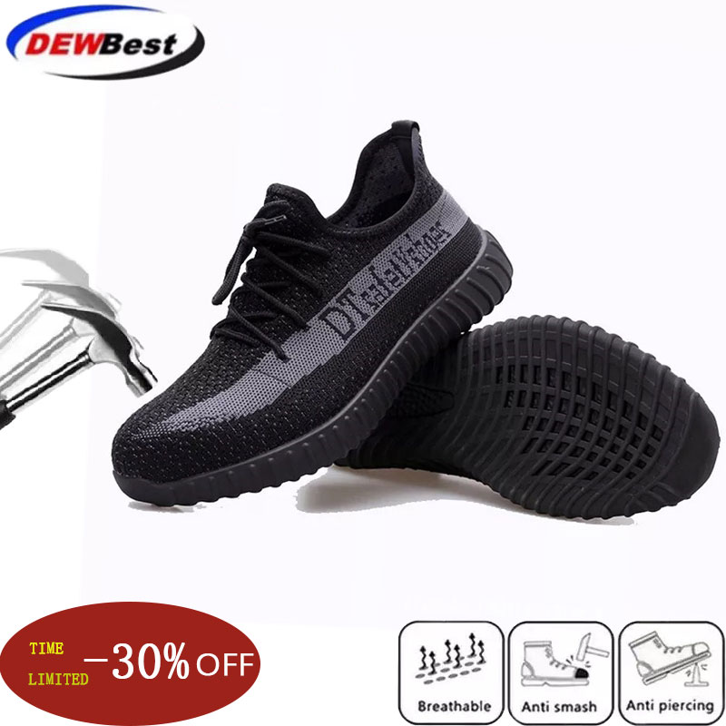 40 Anti-wear Safety Shoes Spring And Autumn Outdoor Leisure Sports Hiking Shoes Teel Toe Caps Breathable Labor Insurance Sho