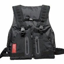 2019 Multi-functional Mens Wasitcoat Pocket Tactical Vest Outdoor Storage Waterbag Training Man Zipper Reflective Cargo