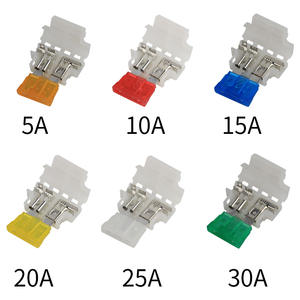 5sets 5A 10A 15A 20A 25A 30A  Auto Standard Middle Fuse Holder Car Boat Truck ATC ATO Blade Fuse Assorted kit