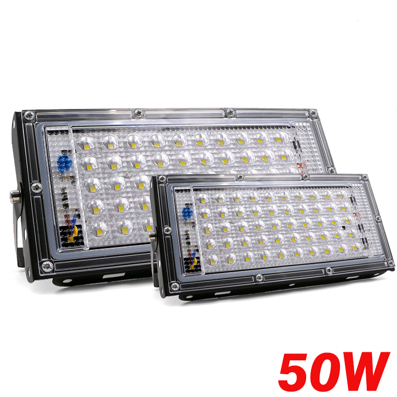 50W  LED Flood Light LED Street Lamp 220V 240V Waterproof  Spotlight Landscape Lighting IP65 Led Spotlight