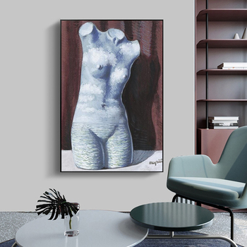 Rene Magritte Surrealism Wall Art Paintings Printed on Canvas 4