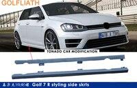 GOLFLIATH R STYLE unpainted ABS racing car bodykit side skirts for Volkswagen VW Golf 7 MK7 2014 2015 2016
