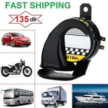 12v 130db caracol chifre de ar à prova d130água caracol chifre de ar da motocicleta chifres sirene som alto para caminhão motocicleta barco carro 510hz