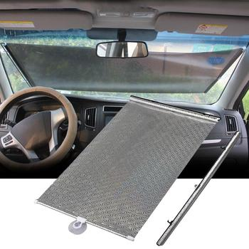 1pcs Car Sunshade Automatic Retractable Windshield Car Window Shade PVC Sunshade Cover Shield Curtain UV Protection Curtain image