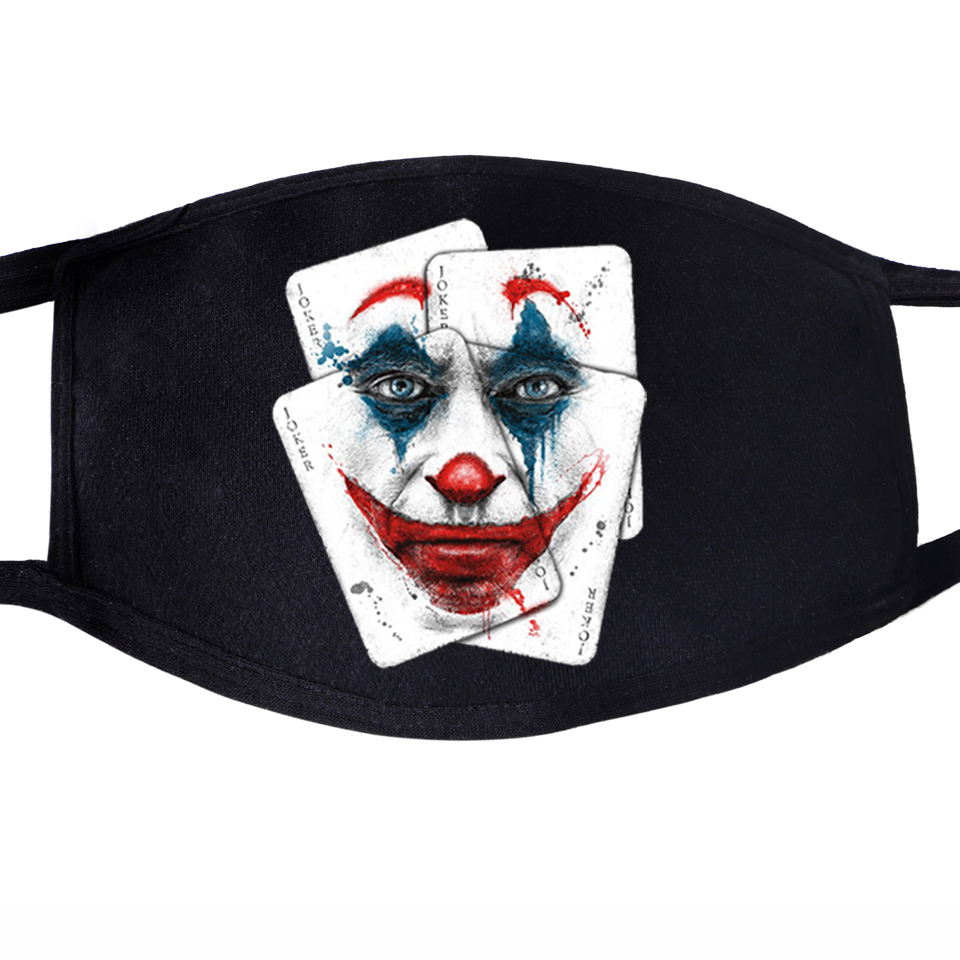 The Joker Poker Villain Eric Border Face Mask Mouth Anti Dust Unisex Muffle Dustproof Facial Protective Cover Jack Napier Masks