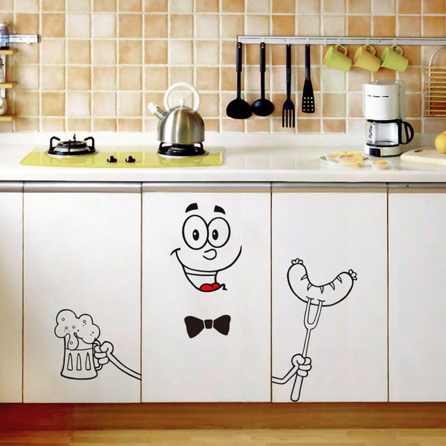 Cute Cartoon Expression Stickers Home Refrigerator Decoration Stickers Refrigerator Door Landscaping Stickers Home Decoration 4