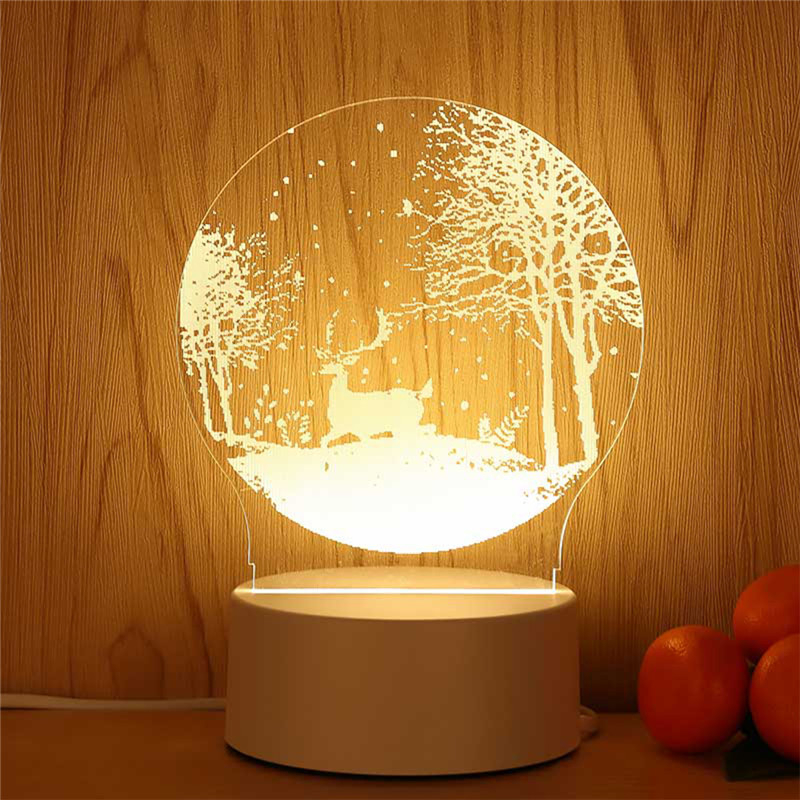 3D LED Lamp Creative Christmas gift Earth Night Lights Novelty Illusion Night Lamp Table Lamp For Home Decorative Light