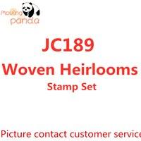 Jc189 tecido heirlooms carimbos conjunto diy scrapbooking cartão fazendo artesanato estênceis de gravação