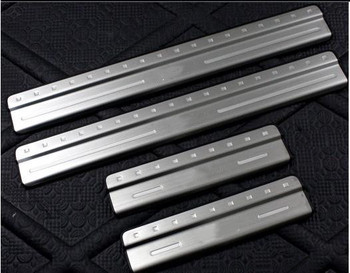 Free Shipping Door sill scuff plate Guards Sill Cover Trim 4pcs/set For VOLVO XC60 XC 60 2009 2010 2011 2012 2013 2014 image