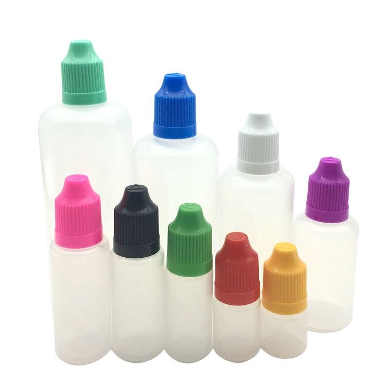 Пластиковые флаконы для жидкости для электронных сигарет, 5/10/15/20/30/50/60/100/120 мл, 50 шт.