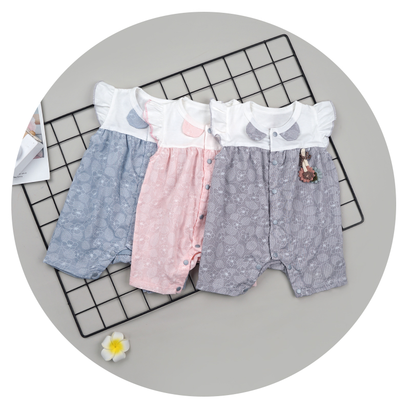 Best Selling Baby Girl Boy Quality Romper Fashionable Infants Clothes Set Summer Cotton Soft Newborn Set Unisex Onesie Short Sle