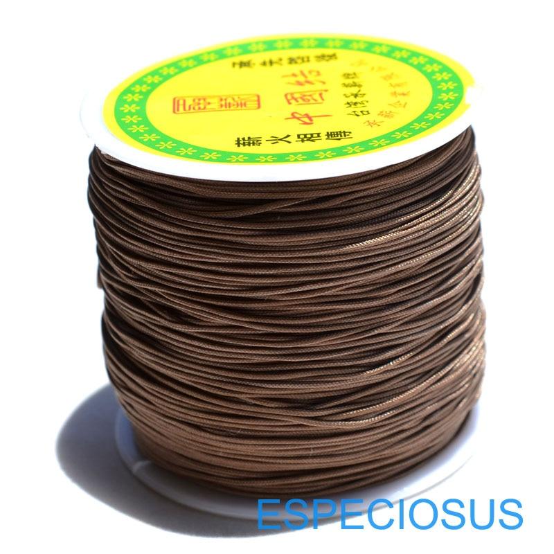 20 Colors 20m Nylon Cord Thread Chinese Knot Macrame Cord Bracelet Braided String DIY Tassels Beading