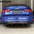 Задний диффузор из углеродного волокна S3  подходит для Audi S3 RS3 S Line Sedan Sportback 2014 ~ 2016