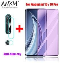 Verre trempé complet pour Xiao mi Note 10 Pro 5G couverture écran de protection Anti rayons bleus Film protecteur pour Xiao mi mi 10 Pro verre
