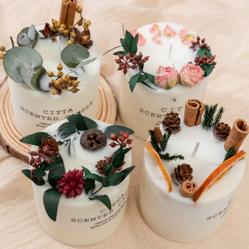Aromatherapy Candle Soy Wax Romantic Christmas Decoration Home Furnishing Candles Flower Petal Landscaping Soy Wax Candle 1