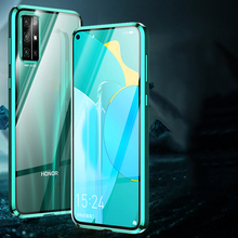 Luxury 360 Full Protection Phone Case For Huawei Honor 30 Pro+ Case Magnetic Metal Bumpe For Honor 30 Cover Double-sided Case