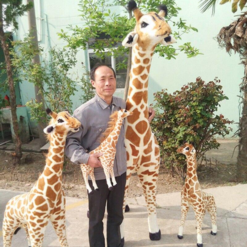 Большой жираф, плюшевая игрушка, популярная мягкая, гигантская, эмульсионная, животная, жираф, Детская кукла, милые плюшевые игрушки, плюш/на