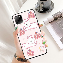 цена на Korea Style for Iphone XR 11Pro Max Iphone11 Max Ip7 8Plus 6 Case Cute rabbit Pink Tpu Soft Black Case Full Protective Back Case
