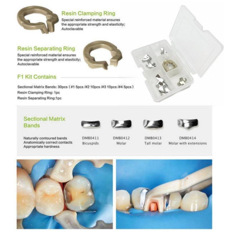 Resina secional dental da faixa da matriz do sistema secional de quanlity alto que aperta/ferramentas separadas do dentista do anel