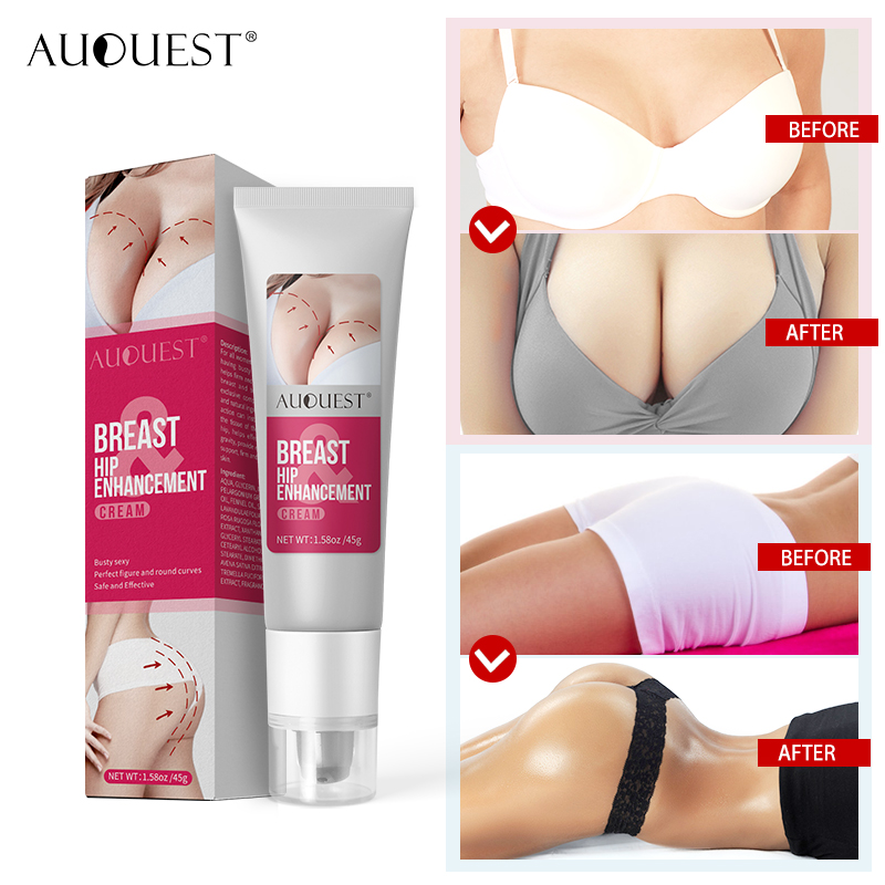 AuQuest Breast Butt Enhancer Lifting Firming Hip Enhancement Cream Increase Breasts Busty Sexy Body Care