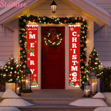 Merry Christmas Banner Snowman Tree Decoration For Home  Ornament Happy New Year 2019