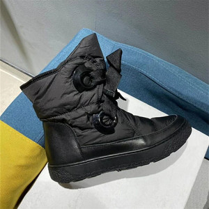 Image 4 - Winter Genuine Leather Black Down Womens Boots New Fashion Platform Comfortable Warm Lace up Waterproof Casual Womens Shoes