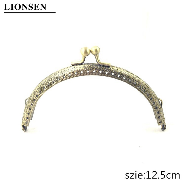 LIONSEN 6.5/7.5/8.5/10.5/12.5/15/18/20cm DIY Metal semicirc Frame Purse Handle Coin Bags Metal Kiss Clasp Lock Frame Accessories 4