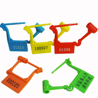 100pcs Hot security seal plastic Disposable lock anti-theft padlock for travel luggage Air bags