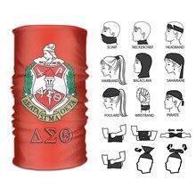 Delta Sigma Theta Gesicht Headwear Bandana Mode Vielzahl Kopf Schal für Staub Schal Krawatte