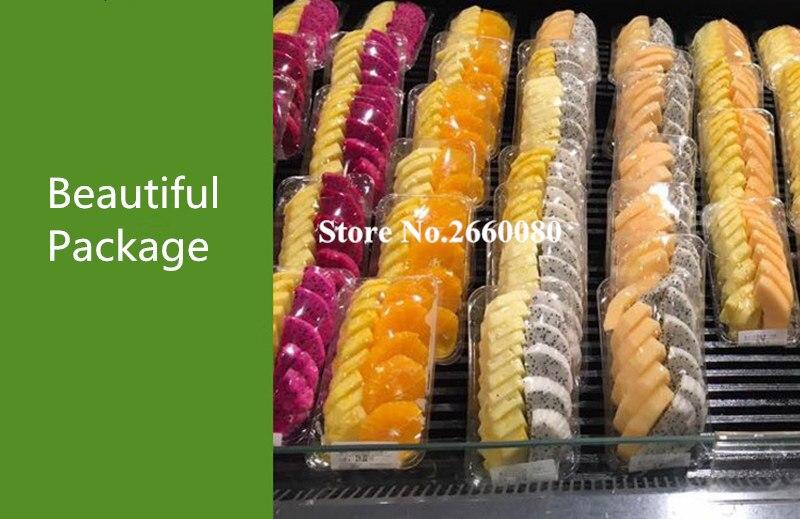 500 шт 137*99*14 мм одноразовый прозрачный пластиковый лоток для свежих продуктов Фрукты Мясо поднос для рыбы для супермаркета и овощного магазина