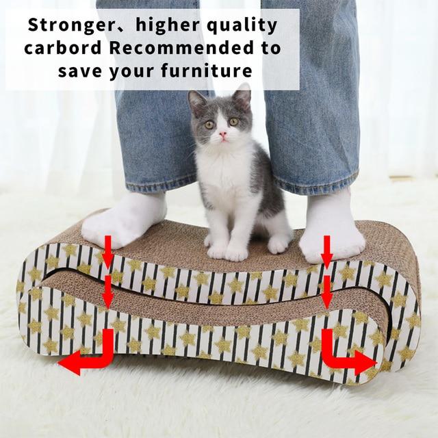 HOOPET 2 Premium Cat Scratcher Corrugated Paper Toys Cat Scratching Cat Scratch Board with Catnip Infinity Lounge Corrugated 4