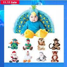 2019 sıcak satış karnaval noel noel Navidad cadılar bayramı kostüm bebek bebek kız aslan tulum Cosplay yenidoğan bebek tulumları giyim