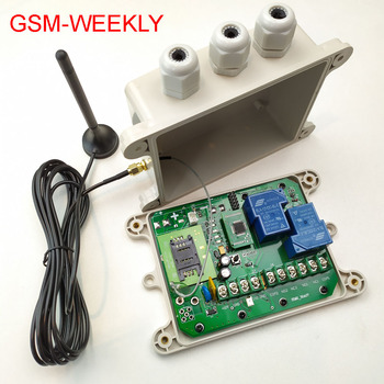 GSM Remote relay switch, 16 segment timer for automatically output working ( Battery on board for power off alarm)
