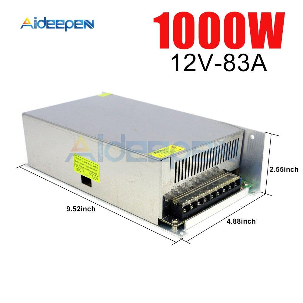 12V 83A 1000 W adaptateur de puissance à découpage 12V 83A 1000 Watts convertisseur de tension interrupteur régulé alimentation pour LED