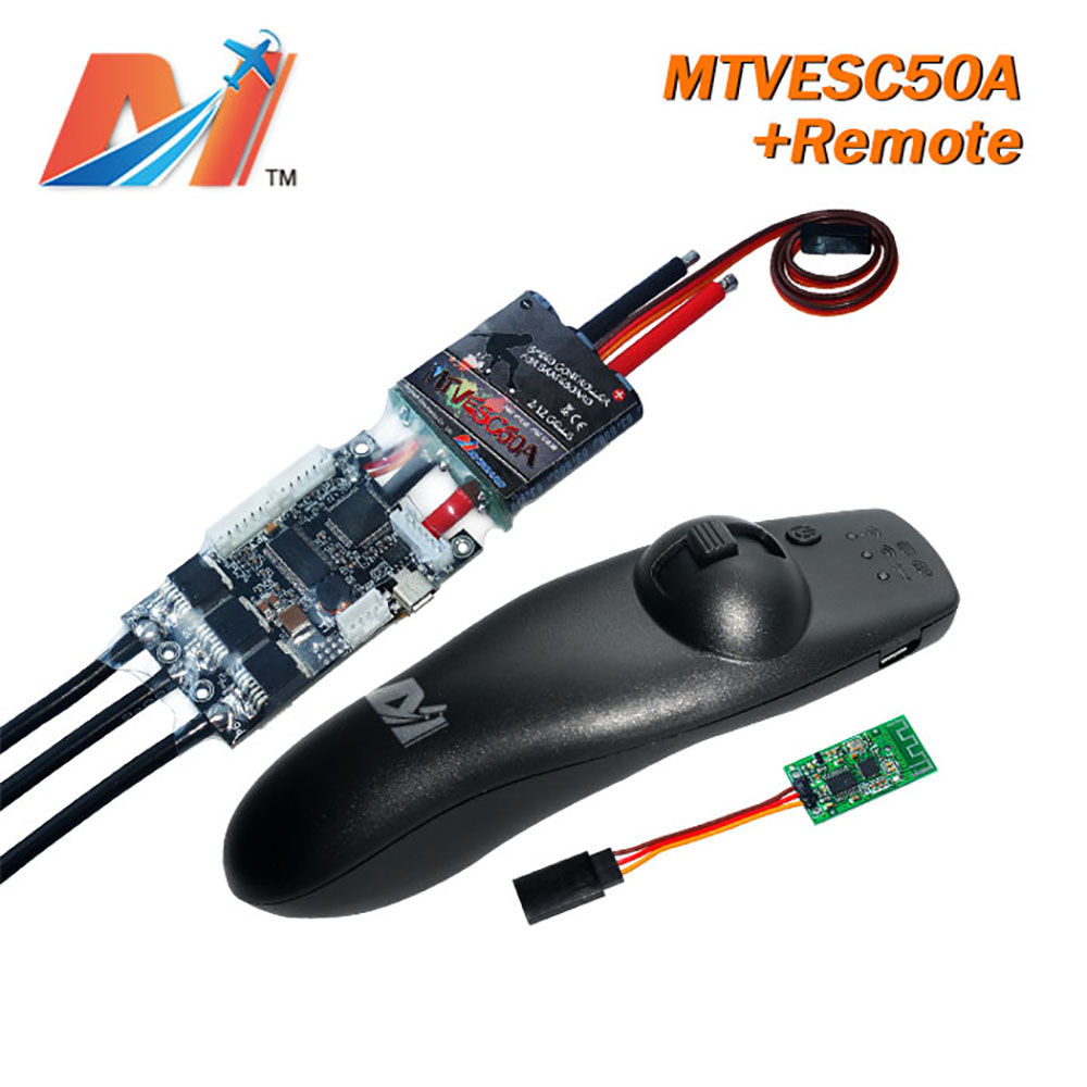 Maytech 2pcs 10% OFF 12S 50A SuperESC Based On VESC And Remote Control For Skateboard