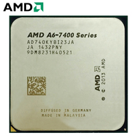 AMD A6 Series A6 7400 A6 7400K A6 7400B 3.5GHz Dual Core CPU Processor APU A6 65W AD740KYBI23JA Socket FM2+