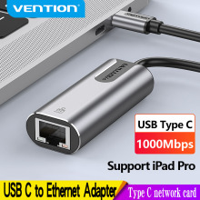 Vention USB Type C Ethernet Adapter USB C to RJ45 Lan Adapter for MacBook Pro Samsung Galaxy S9 Type C Network Card USB Ethernet