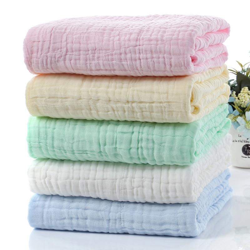 Baby Muslin Squares Diaper Muslin Swaddle Bamboo Baby Blanket Newborn Baby Swaddle Wrap Baby Blankets Newborn Cotton Manta Bebe