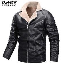 Jacket Fur-Collar Motorcycle Winter Casual Fashion New Warm DARPHINKASA Thick Plus-Size