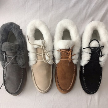 Winter Women's Ankle Boots Fur Warm Shoes Women Lace-up Snow Boot for Women's Flat Shoes Soft Fashion 2020 Loafers Footwear 2018 winter warm women white sneaker fashion footwear lace up lady shoes with soft fur lining candy color back