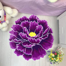 Carpet Flower-Rug Home-Mats Bedroom Non-Slip Living-Room Water-Absorption Flocking Wind-Peony