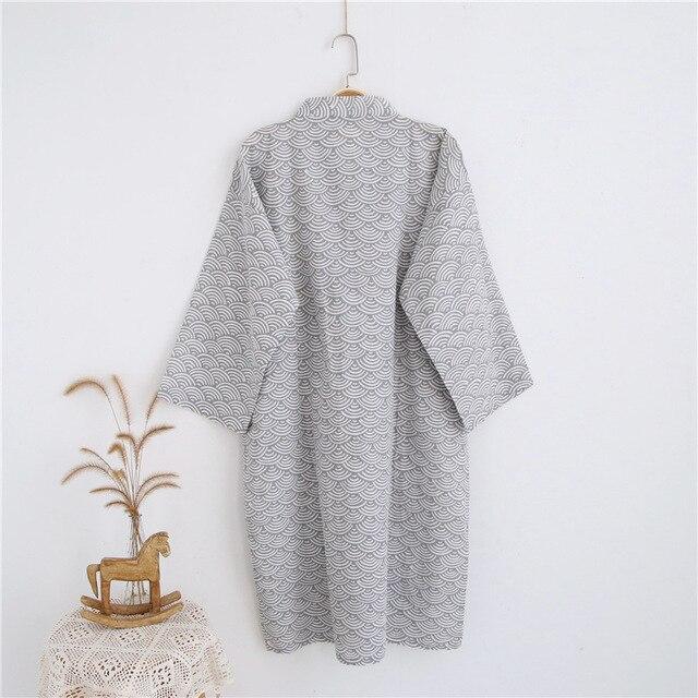 Халат мужской тонкий  в японском стиле пижама 4