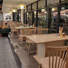 Nordic Chair Solid Wood Hotel Table And Chairs Combination Commercial Restaurant Round Chinese Furniture Square Rectangular
