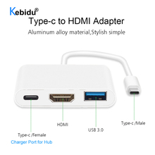 USB C HUB  4K USB 3.0 Port To HDMI compatible Adapter For Macbook Pro/Air Thunderbolt 3 USB Type C Hub USB C Power Delivery