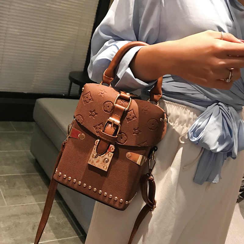 กระเป๋าถือกล่องแพคเกจสี่เหลี่ยมกระเป๋าเกาหลีกระเป๋า Messenger กระเป๋า Messenger มือถือ