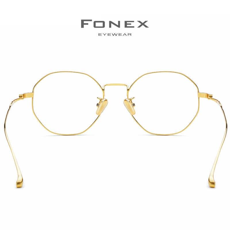 Czysta B tytanu okulary na receptę ramki kobiety 2019 nowa luksusowa wielokąt Ultralight mężczyźni krótkowzroczność okulary optyczne