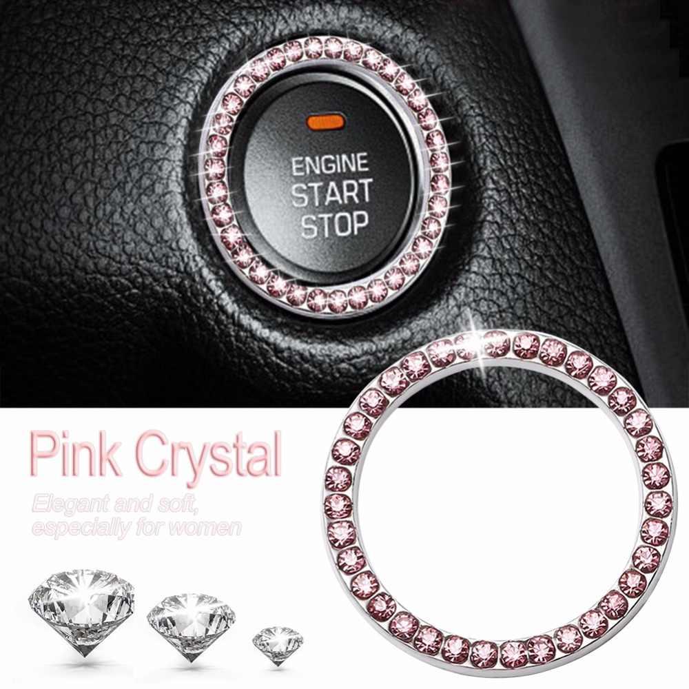Car Start Switch Button Decorative Diamond Ring for Audi A4 B5 B6 B8 A6 C5 A3 A5 Q5 Q7
