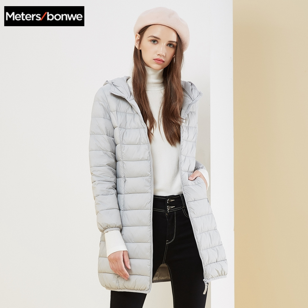 Metersbonwe Winter Women Long   Down     Coat   Fashion Female Long Jacket Warm   Down   Jacket Casual Women Cotton clothing