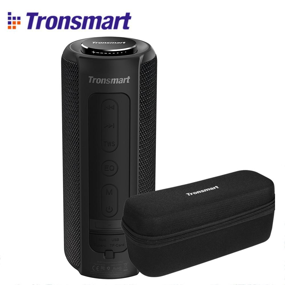 Tronsmart t6 mais alto-falante bluetooth graves profundos 40 w tws portátil ipx6 função banco de potência à prova dwaterproof água soundpulse soundbar