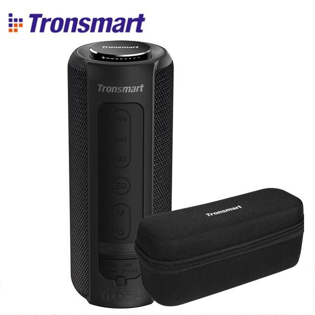 Tronsmart t6 mais alto falante bluetooth graves profundos 40w tws portátil ipx6 função banco de potência à prova dwaterproof água soundpulse soundbar